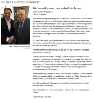 Skandal ausgenutzter Gorbatschow